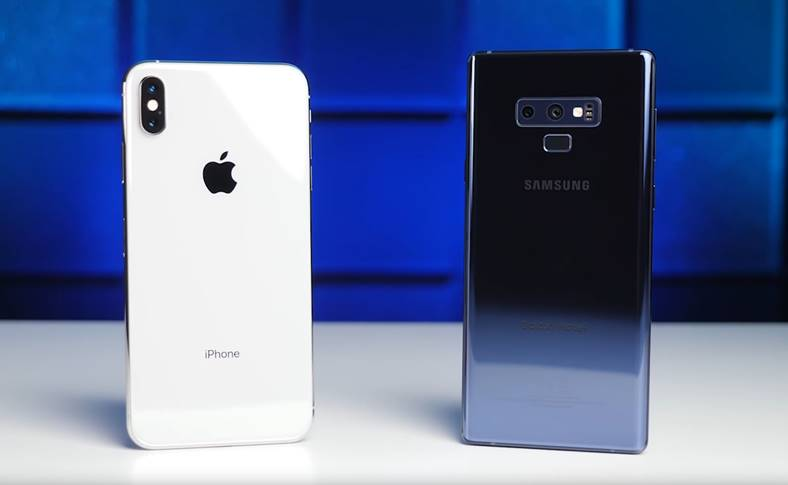 Samsung GALAXY Note 9 umilinta iPhone XS Max