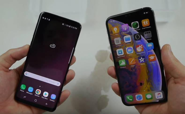 Samsung GALAXY S9 inghet iphone xs