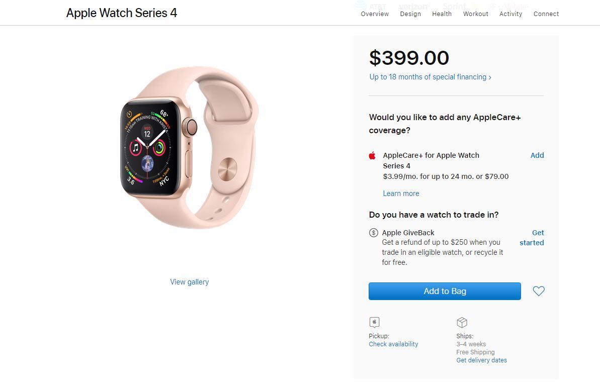 apple watch 4 stocuri dispar