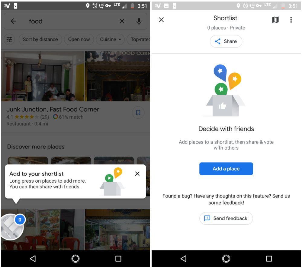google maps functie tare shortlist 1