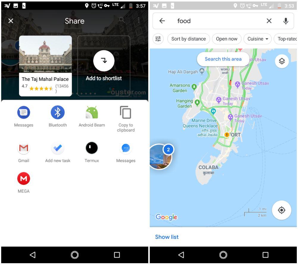 google maps functie tare shortlist 2