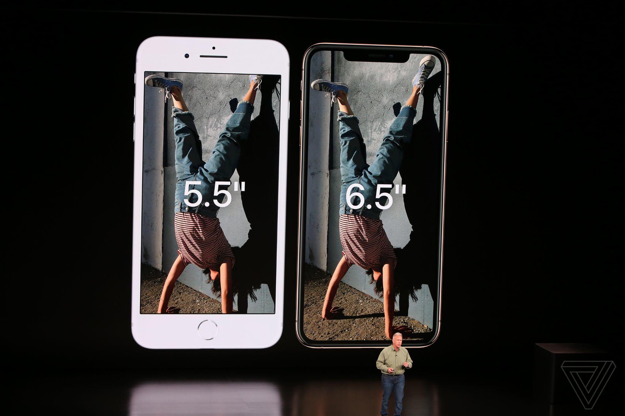 iPhone XS Max comparat iphone 8
