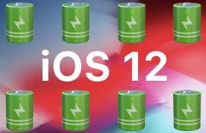 ios 12 autonomie baterie iphone ipad