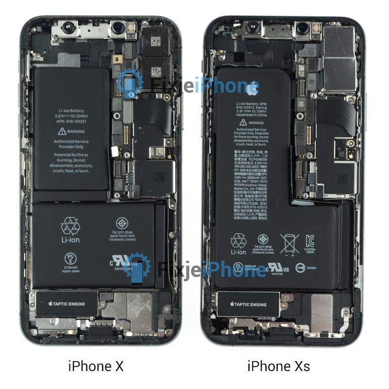 iphone xs dezasamblare baterie