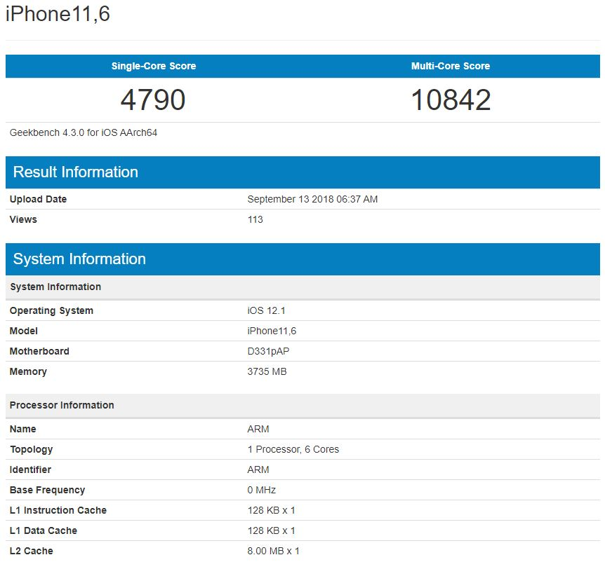 iphone xs performante a12 1