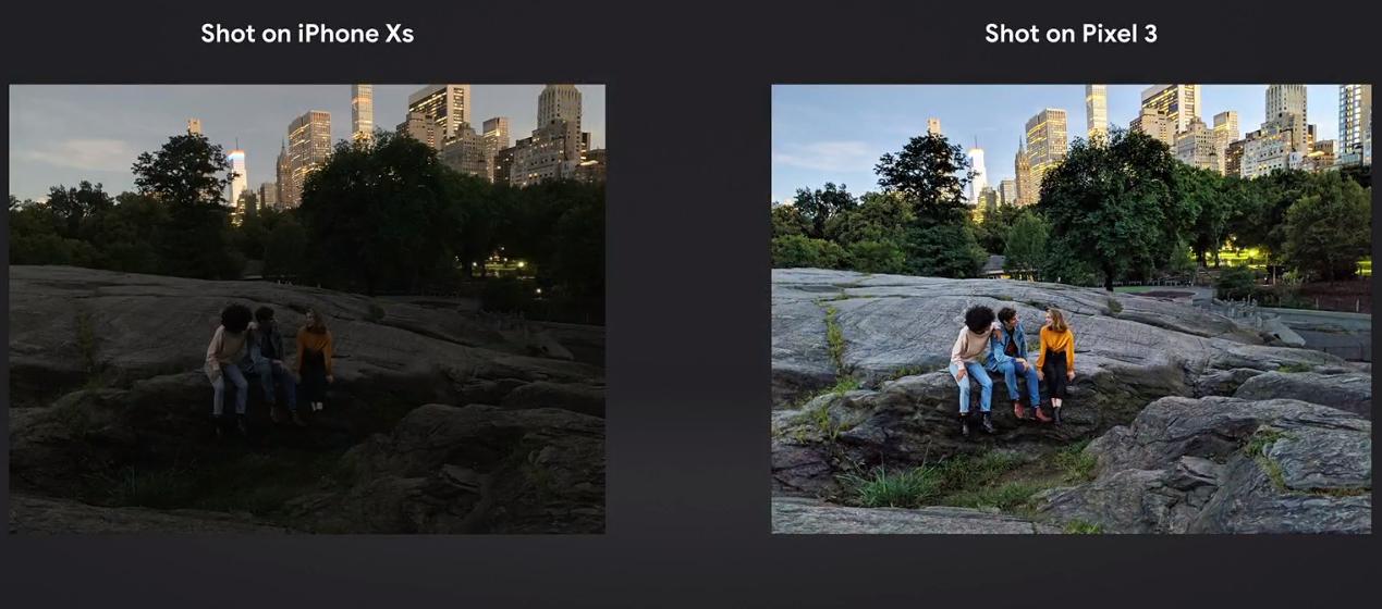 Google Pixel 3 ironie iphone xs camera 1