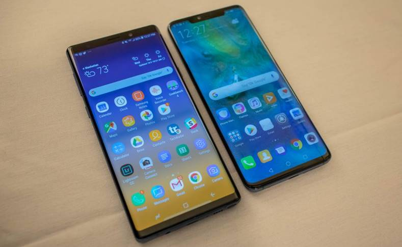 Huawei MATE 20 PRO camera Samsung GALAXY Note 9