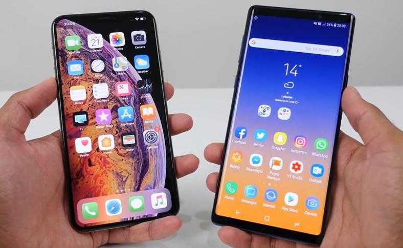 Samsung GALAXY Note 9 viteze 4g iphone xs
