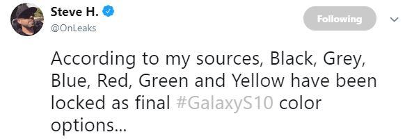 Samsung GALAXY S10 noi culori 1