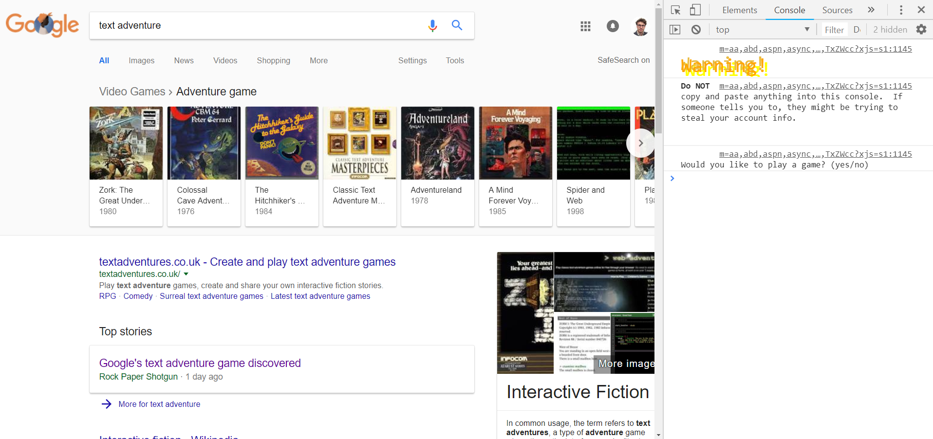 google joc secret 1