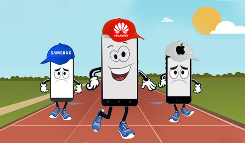huawei domina apple samsung