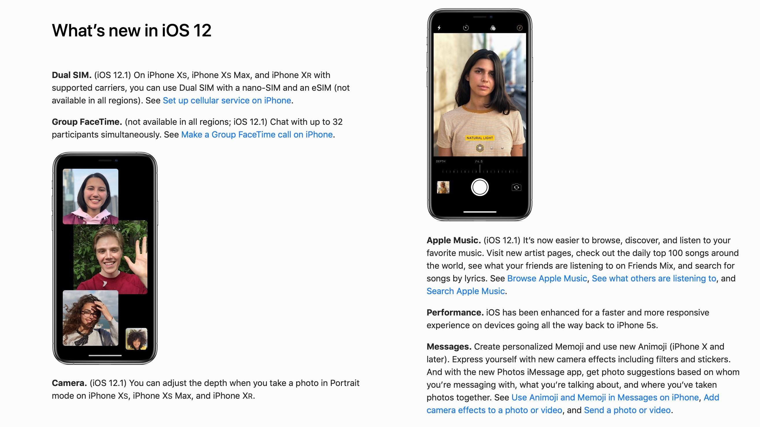 iOS 12.1 noi functii 1