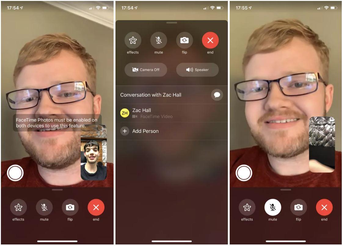 ios 12.1.1 facetime live photos 1