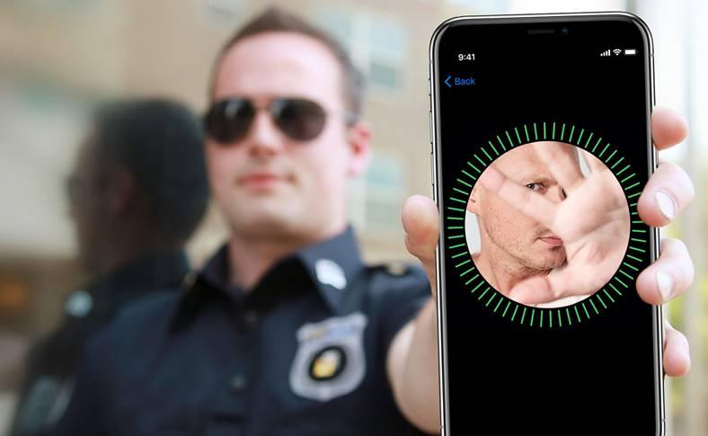 politia sparge iphone