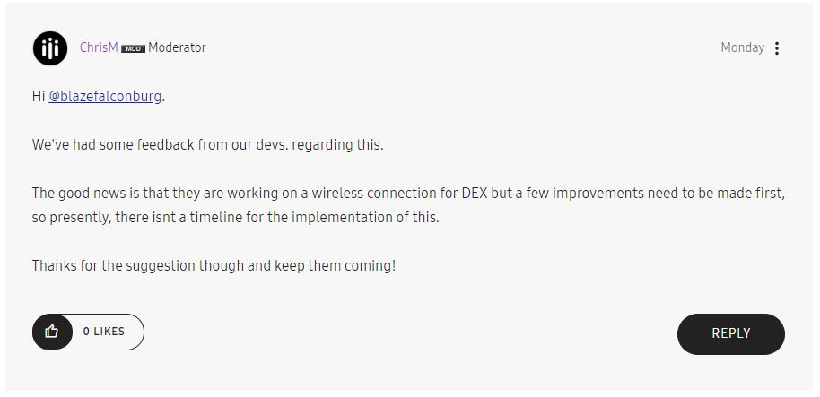 samsung produs dex wireless