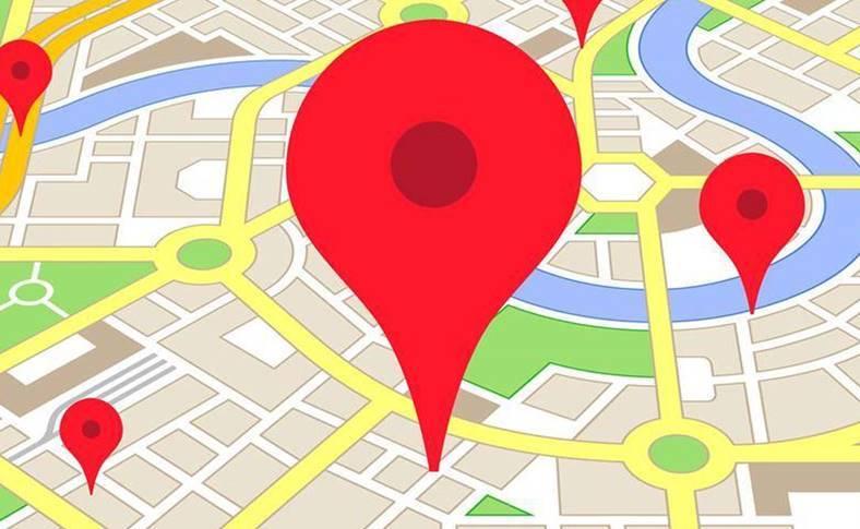 Google Maps interfata