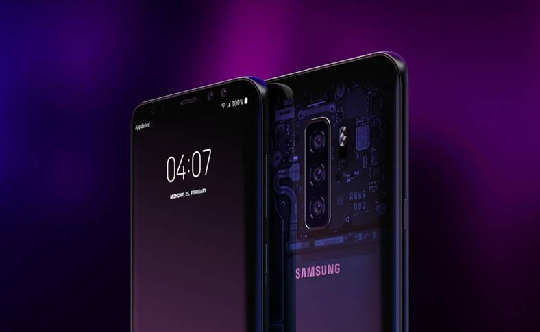 Samsung GALAXY S10 android 9 design
