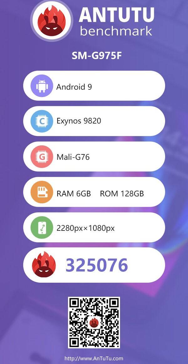 Samsung GALAXY S10 antutu performante