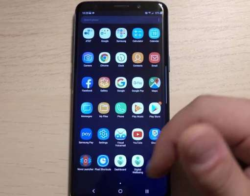Samsung GALAXY S8 android 9