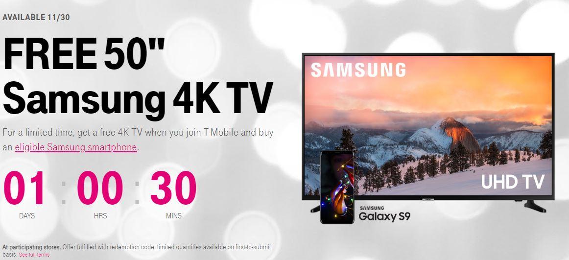 Samsung GALAXY S9 televizor gratuit black friday