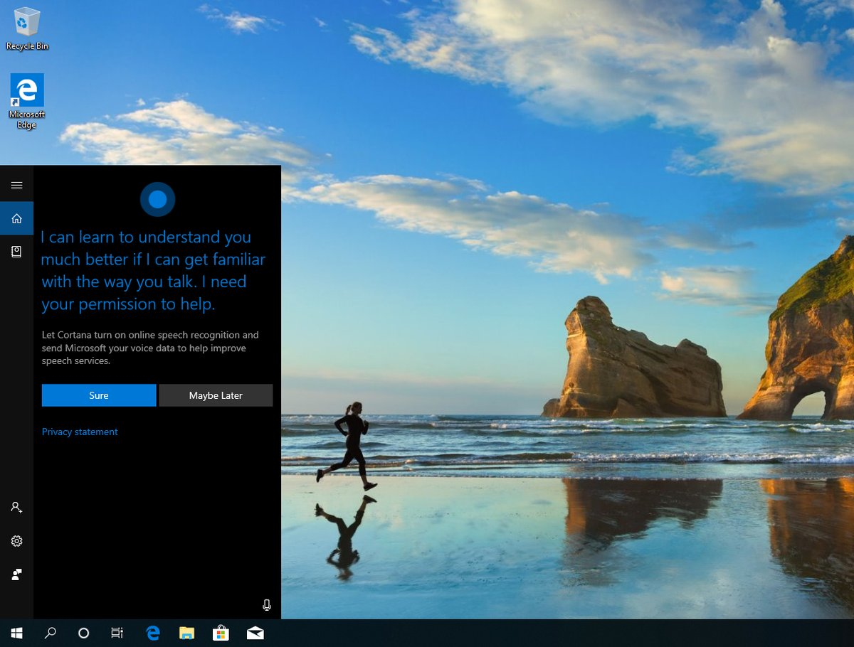 Windows 10 cortana 1