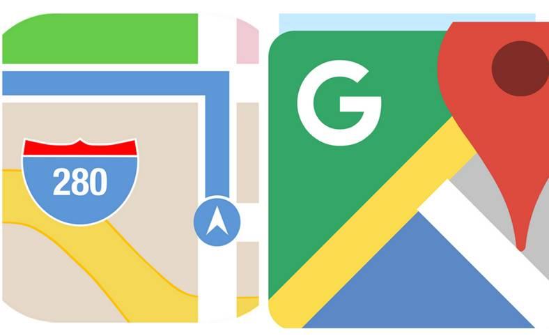 google maps harti apple maps