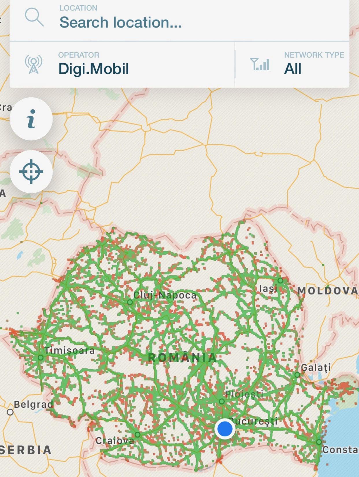 Digi Mobil Harta Reala A Acoperirii In Romania Idevice Ro
