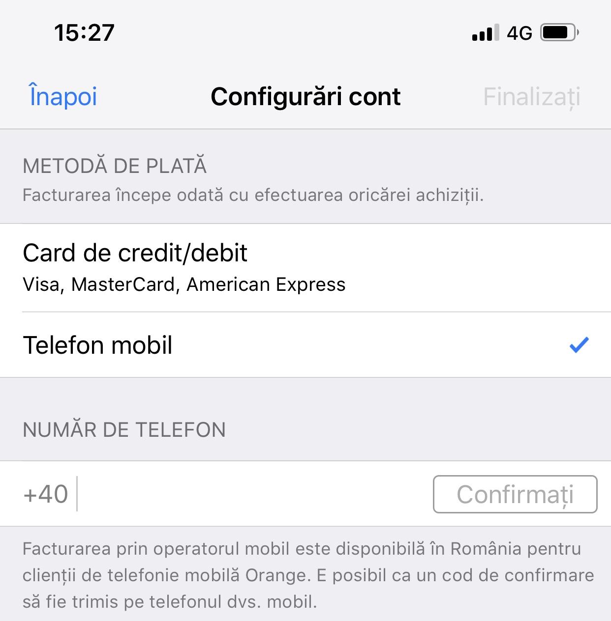 apple plata telefon mobil