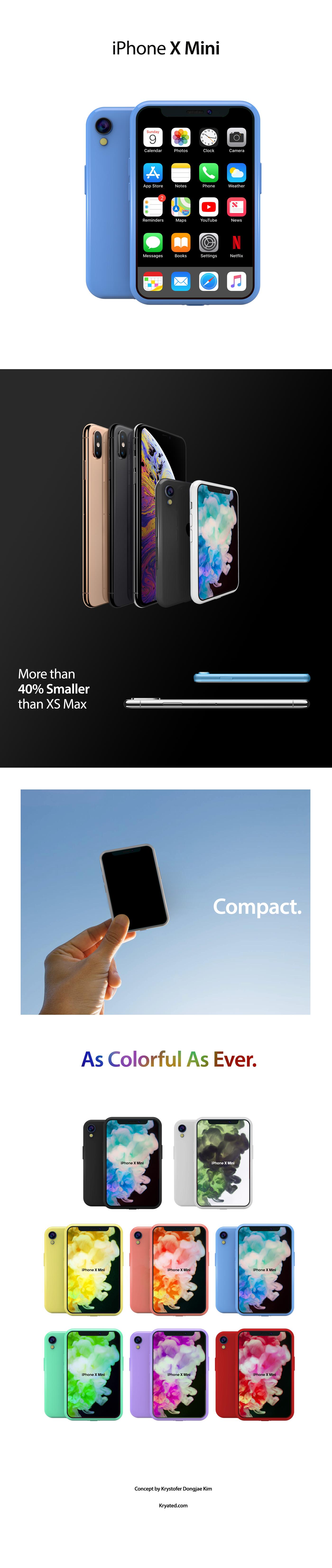 iPhone X Mini concept
