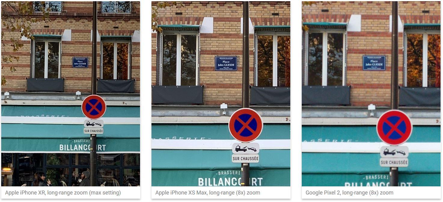 iPhone XR camera Samsung GALAXY S9 test foto