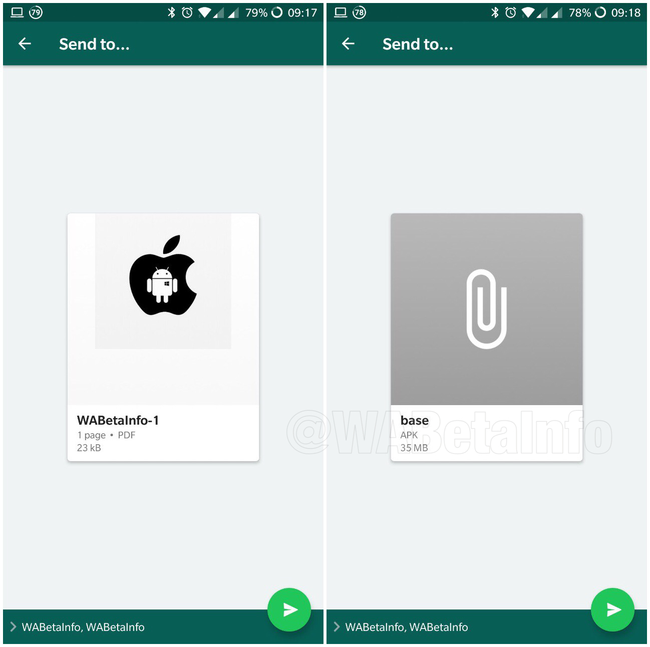 whatsapp ios android multi share