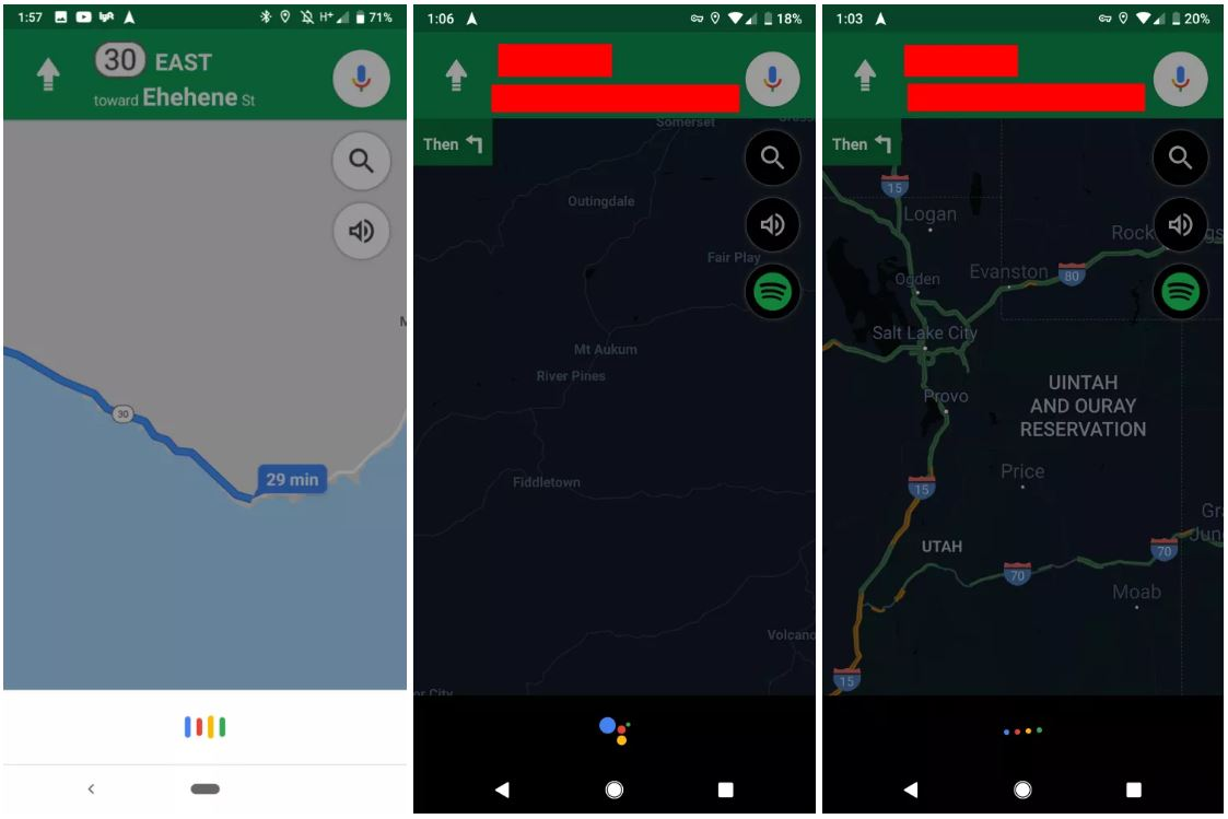 Google Assistant google maps ios android