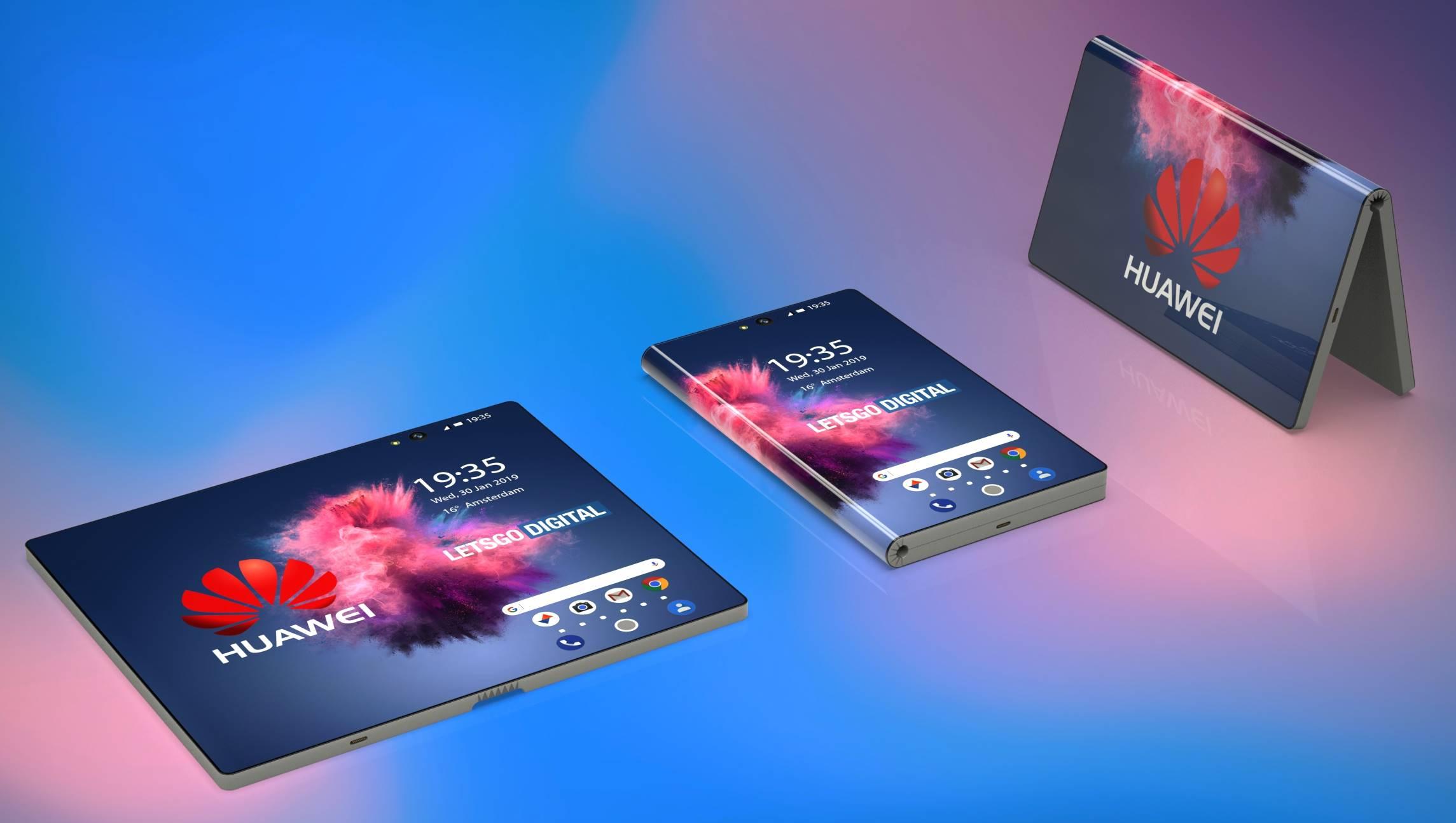 Huawei MATE FLEX arata imagini brevet