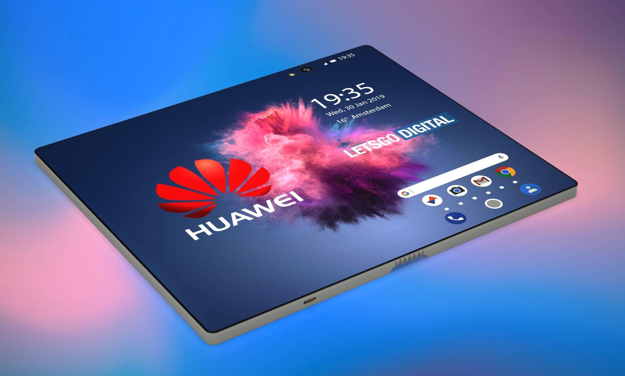 Huawei MATE FLEX arata imagini concept