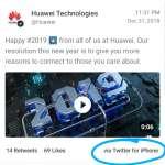 Huawei marketing iphone