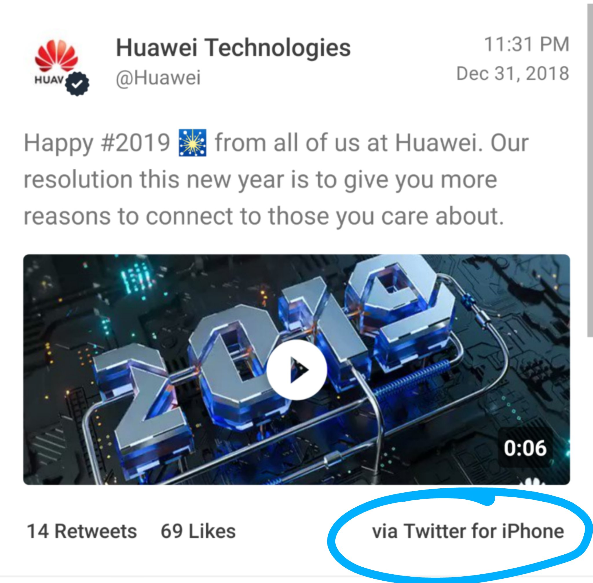 Huawei marketing iphone