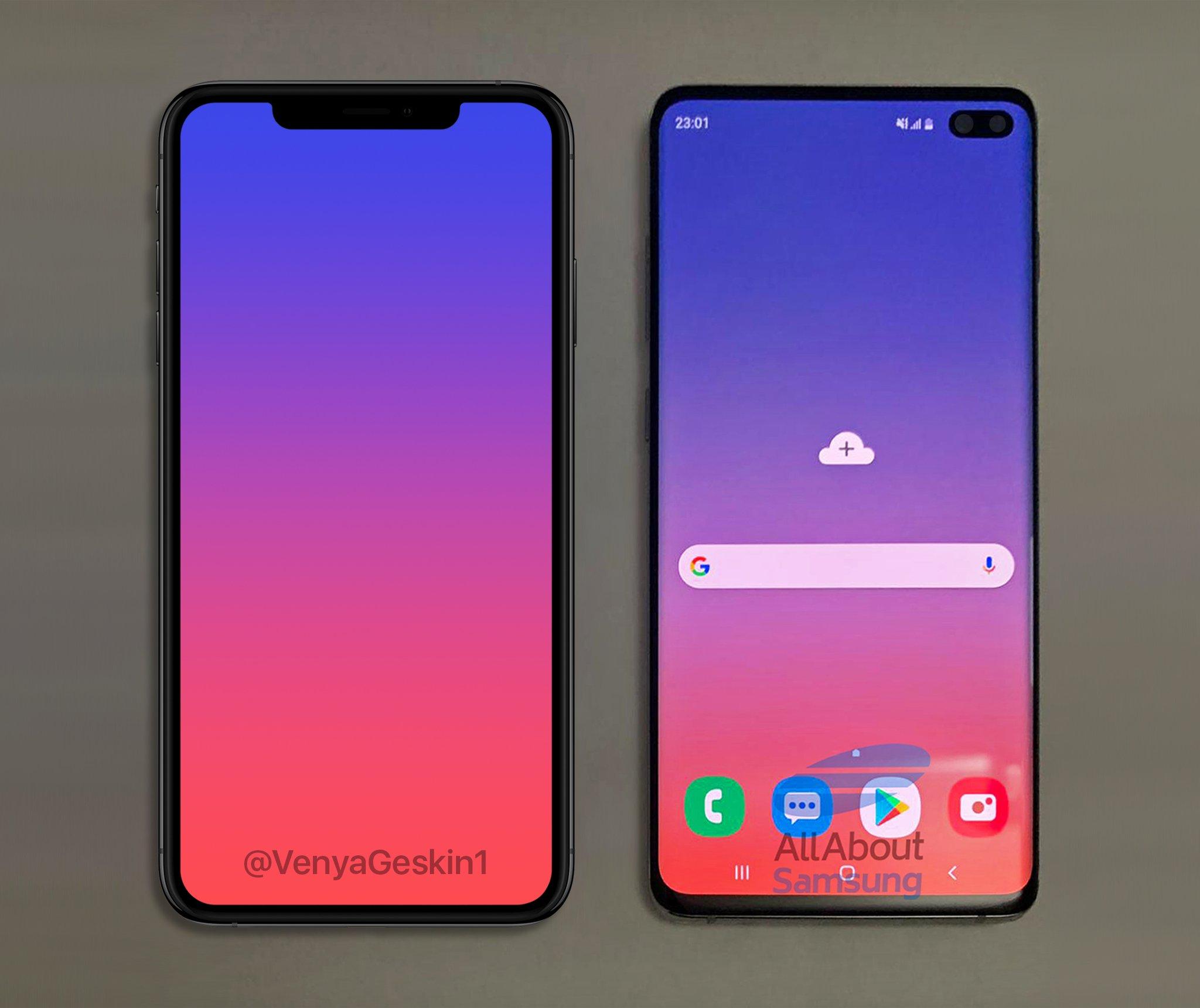 Samsung GALAXY S10 iphone xs comparatie