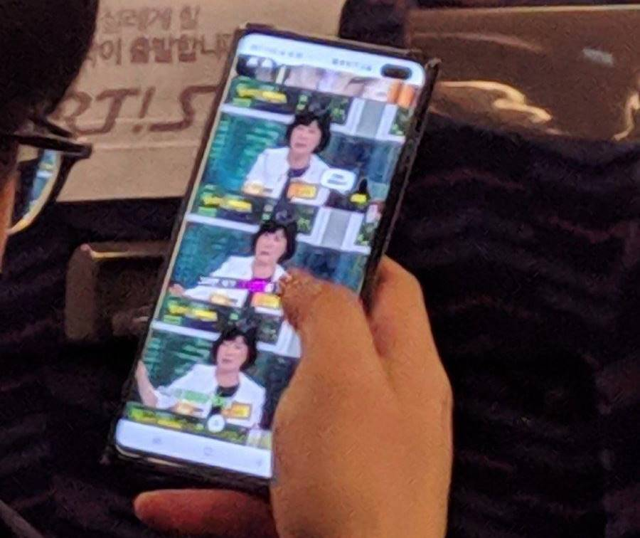 Samsung GALAXY S10 real imagine prototip