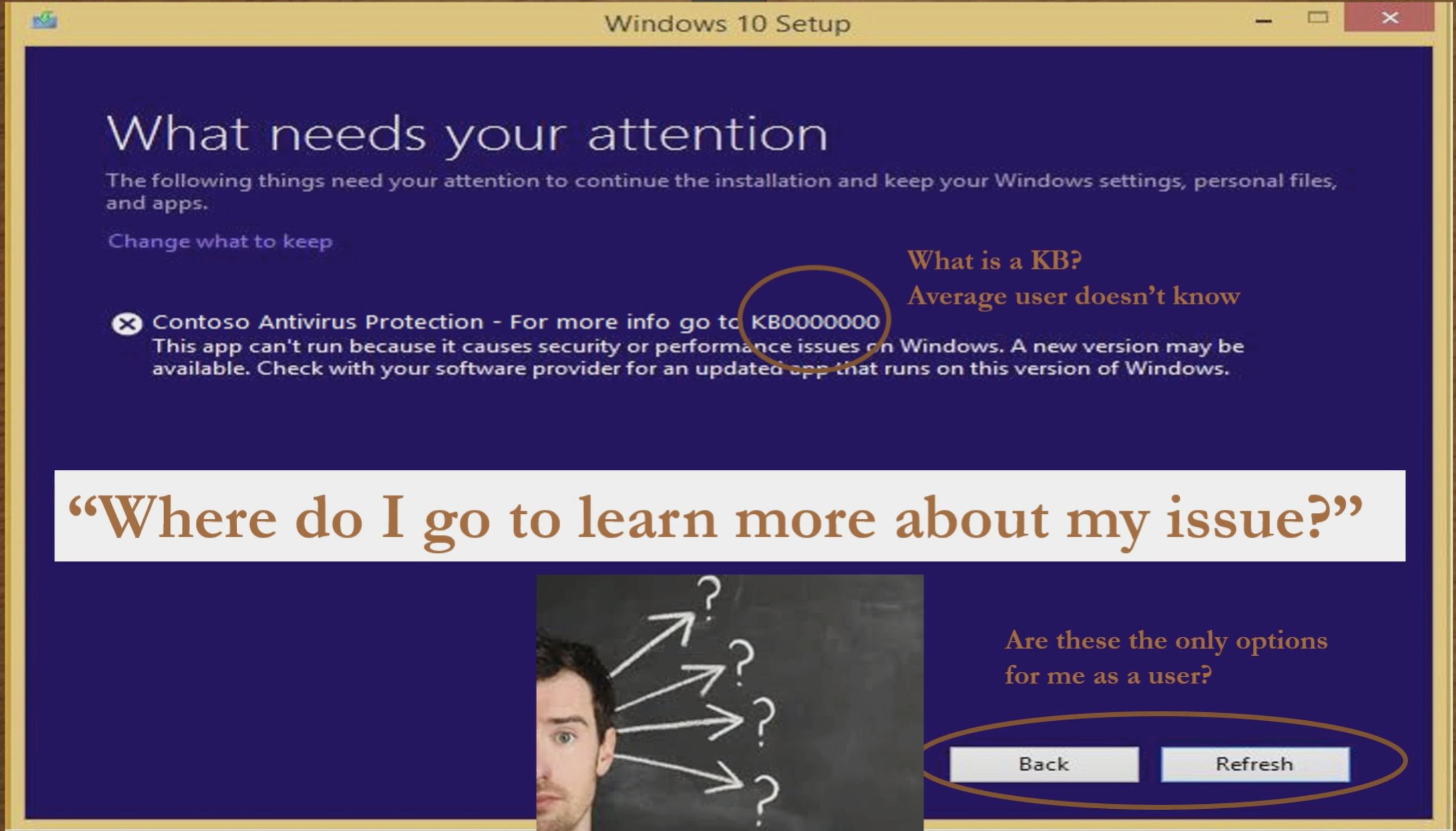 Windows 10 erori instalare