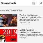 YouTube recomandari descarcari