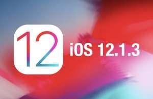 iOS 12.1.3 problema