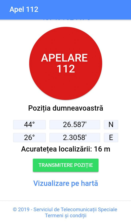 APEL 112 localizare urgenta