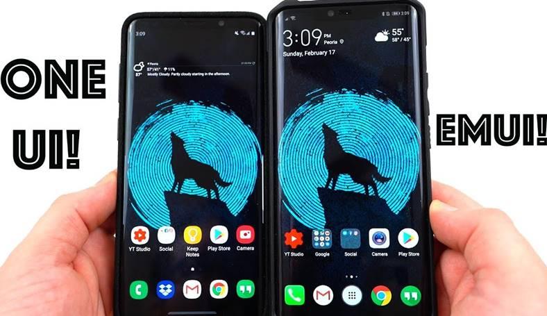 Android 9 ONE UI EMUI 9