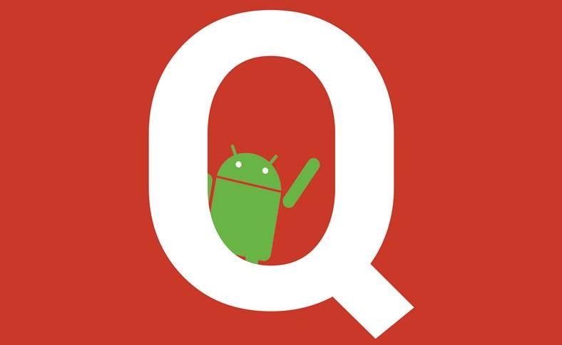 Android Q intunecat