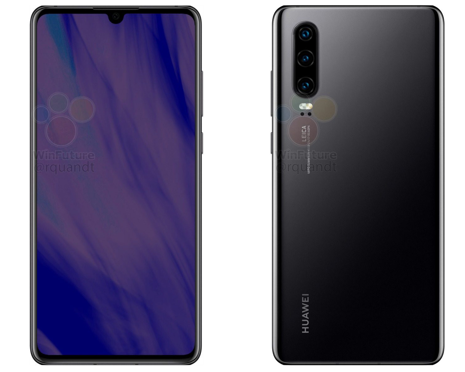 Huawei P30 imagine camera tripla