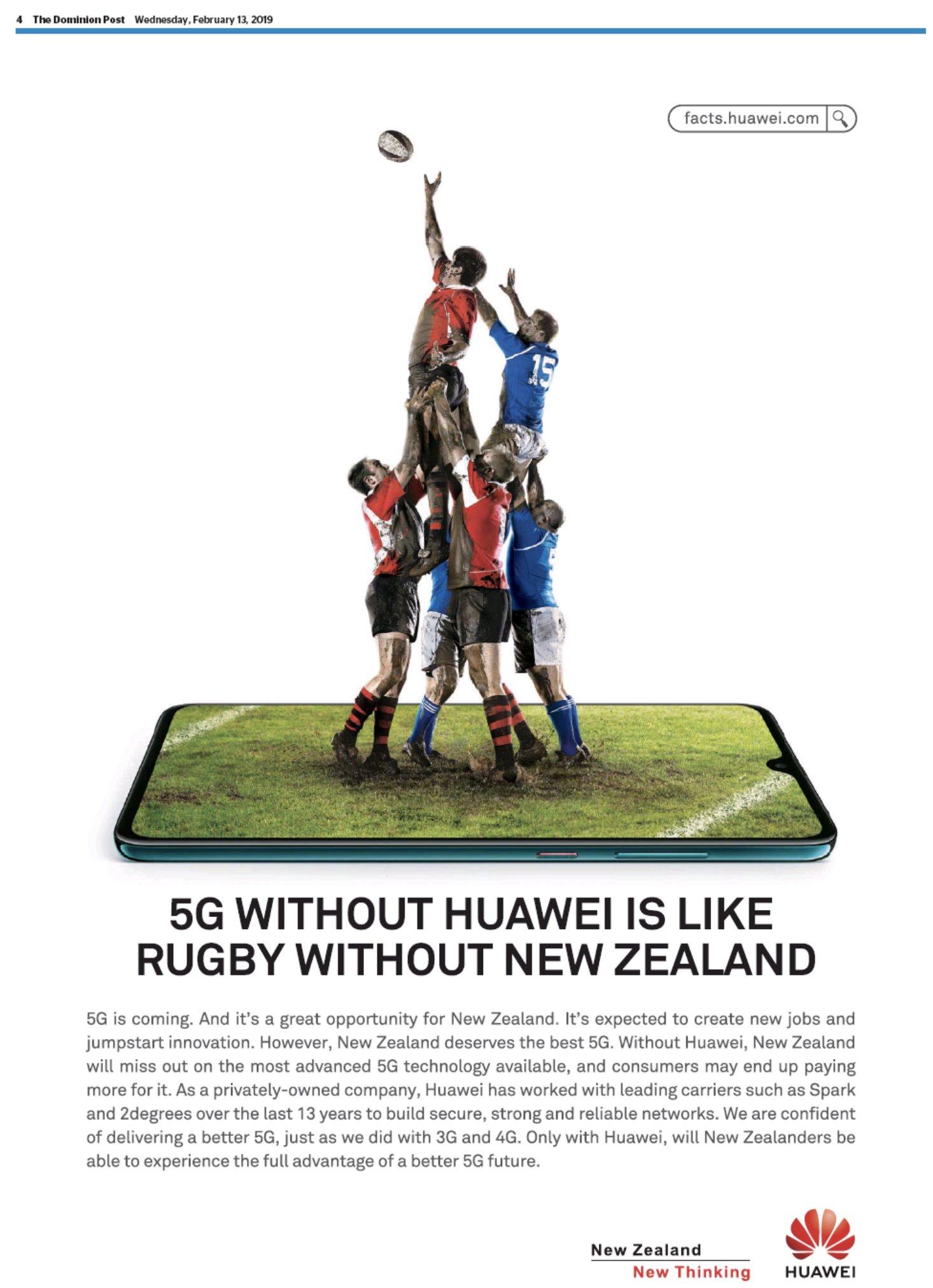 Huawei rugby noua zeelanda