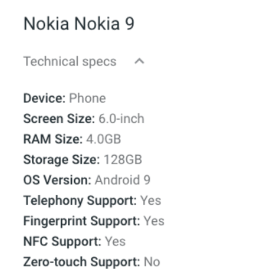 Nokia 9 specificatii dezamagire