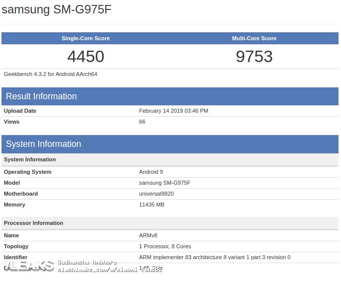 Samsung GALAXY S10 performante slabe