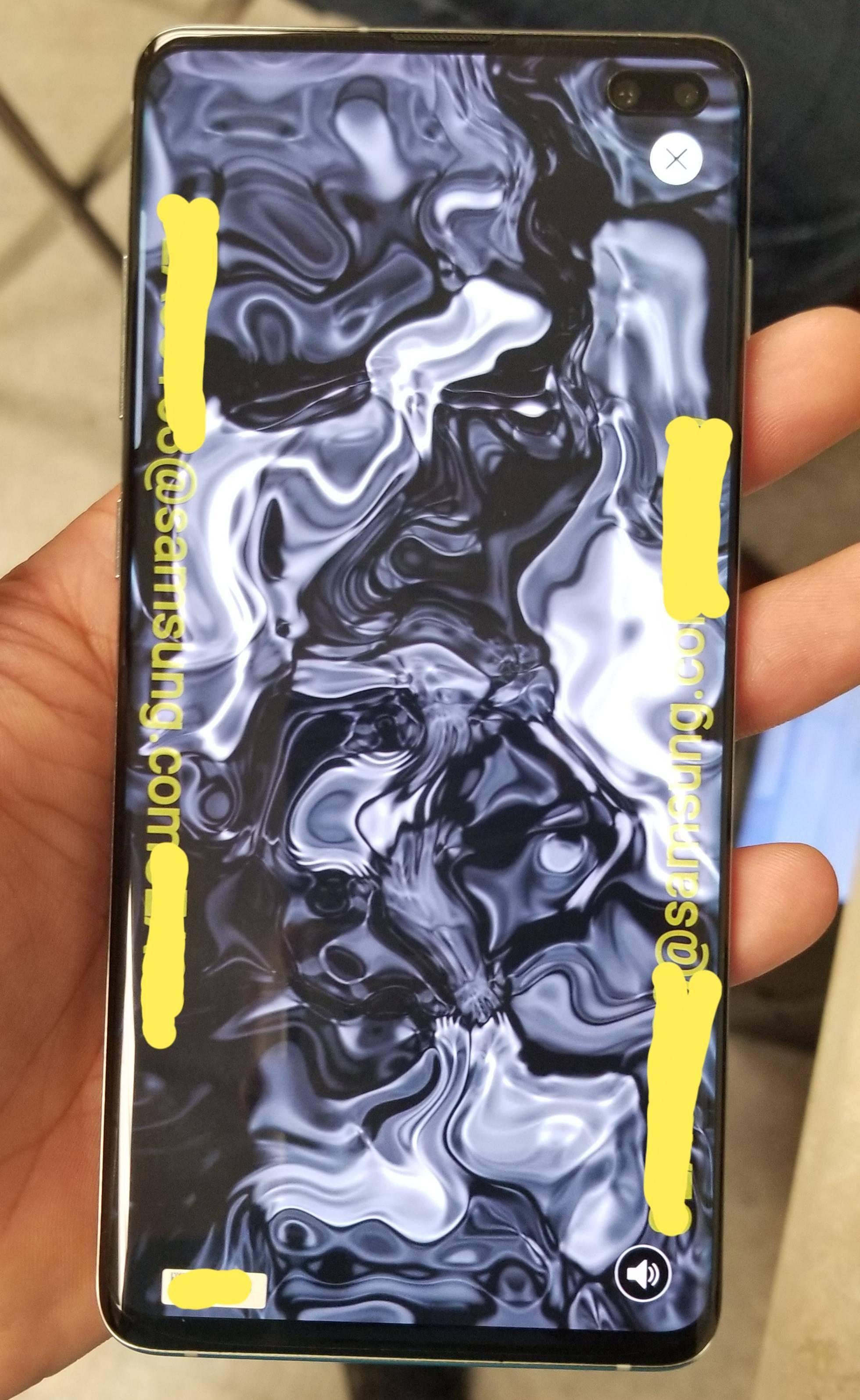 Samsung GALAXY S10 poza greseala