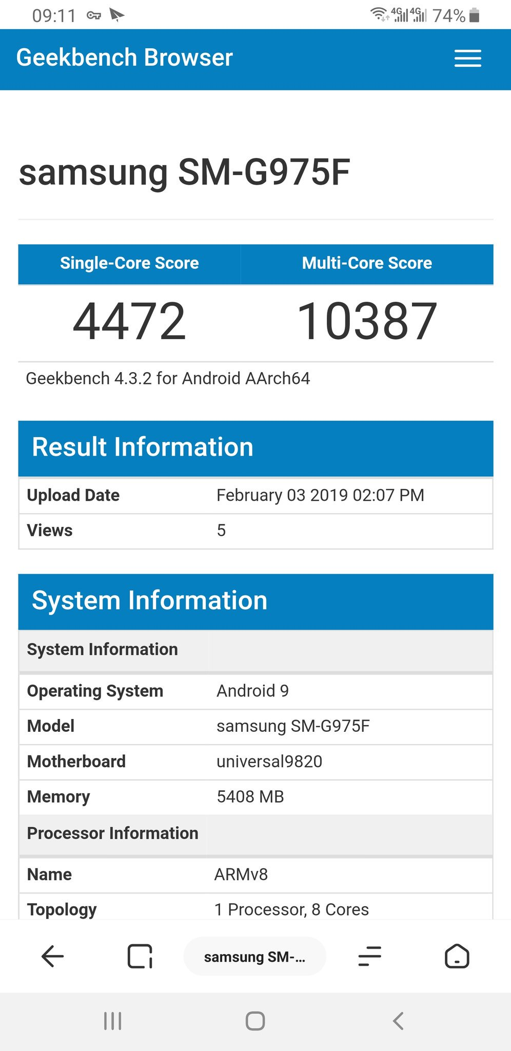 Samsung GALAXY S10 umilit iphone performante